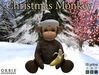 Christmas Monkey With Black Santa Hat
