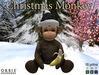 Christmas Monkey With Black Santa Hat