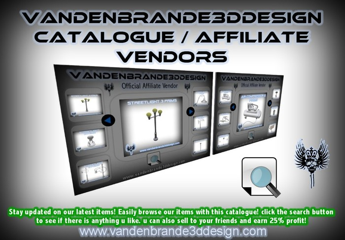 vandenbrande3ddesign.com's Affiliate program 25% SELL FULL PERM SCULPTS!