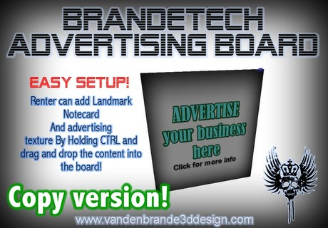 BrandeTech Advertising Board v.1.0 Copy Version