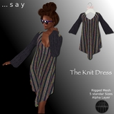 ::say:: The Knit Dress(Boxed)