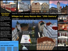 Village 1900 Set incl. Rezzer for House Castle Mansion  inspired by Prag / Prague