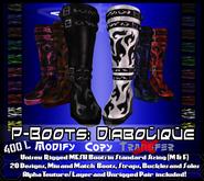 [LH] P-Boots - Diabolique - Rigged Mesh Platform Boots