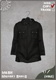 RONSEM* Military Shirt2 / black