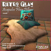 Acapulco Glam! Floor Pillows and Rug