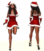 Christmas Santa Dress Red inc Gloves & Hat