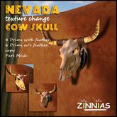 Authentic Southwestern Flair - Zinnias Nevada Cow Skull (texture change)