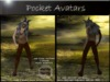 Pocket Avatars, fantasy. Complete tiny avatar, micro mesh avatar, petite in size. The Faun (male) with pan flute