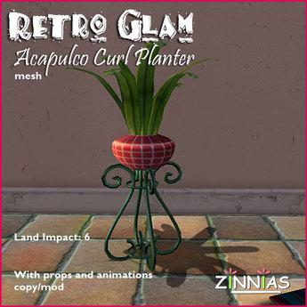 Acapulco Glam! Retro Style Wrought Iron Planter