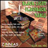 Groovy! *Zinnias* Black Light Flashback Set