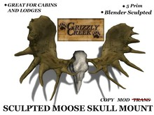 Grizzly Creek Sculpty Moose Skull v1.03