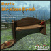 """Authentic Southwestern Flair - Zinnias """"La Mexicana"""" Rustic Wooden bench"""