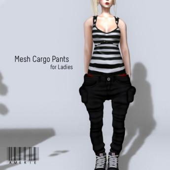 AMERIE - Mesh Cargo(Black)