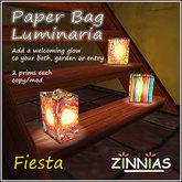 Paper Bag Luminaria - Fiesta!