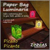 Paper Bag Luminaria - Picado Picante