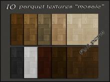 """Pack 10 parquet textures """"mosaic"""" simple"""