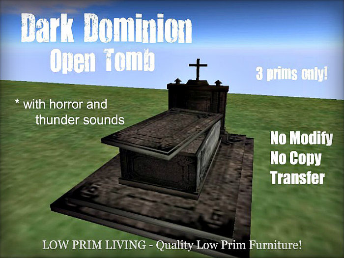 Halloween - Dark Dominion - Open Tomb with Horror Sounds - goth, vampire, coffin, cemetery, crypt, grave]