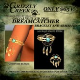 Grizzly Creek Dreamcatcher Adddon Set Bracelet and Armband
