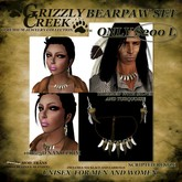 Grizzly Creek Bearpaw Necklace Set Full Claws