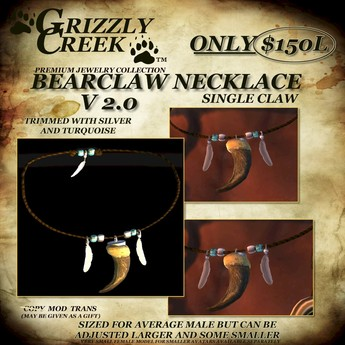 Grizzly Creek Bearclaw Necklace MENS (or larger avatars)