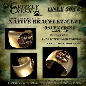 Grizzly Creek Raven Cuff Gold