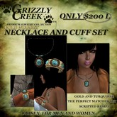 Grizzly Creek Gold Nugget Necklace n Cuff Set