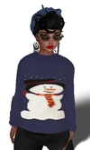 Almost Free Christmas Snowman Sweater Blue Mesh