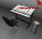 [ kunst ] - Drafting table set / black - silver ※25% OFF XMAS PROMO※