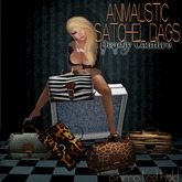 Animalistic Satchel Bag-MESH-zebra