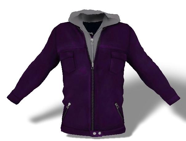 Mens Mesh Hooded Jacket Purple