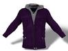 Mens hooded jacket purple pic