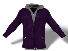 Mens Mesh Hooded Jacket Purple
