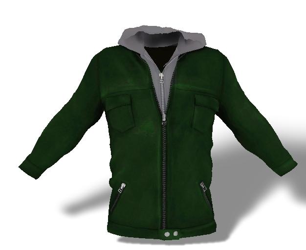 Mens Mesh Hooded Jacket Green