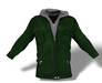 Mens hooded jacket green pic