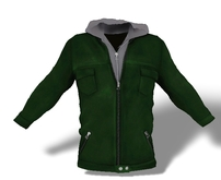 Mens Mesh Hooded Jacket Green
