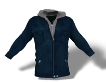 Mens Mesh Hooded Jacket Blue
