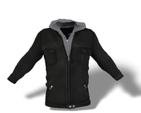Mens Mesh Hooded Jacket Black