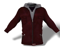 Mens Mesh Hooded Jacket Red