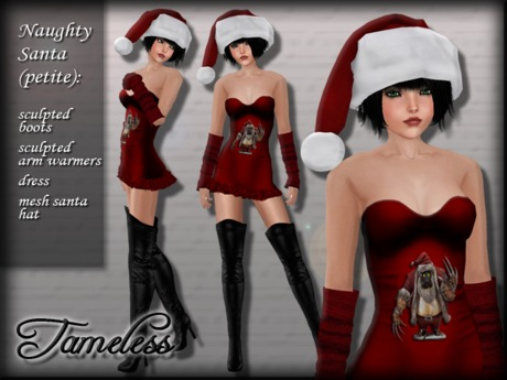 *PROMO* Tameless Naughty Santa Outfit (petite size) - Twisted Christmas