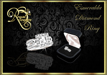 Esmeralda Platinum Band - Sizable(Boxed)