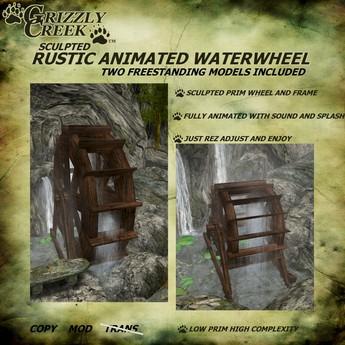 Grizzly Creek WaterWheel Freestand (2 Models)