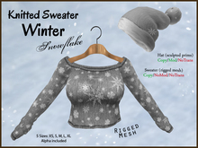 *Soulglitter* Knitted Sweater Winter - Snowflake (grey)