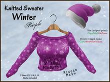 DEMO *Soulglitter* Knitted Sweater Winter (purple)