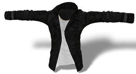 Mens Mesh Buttoned Jacket Black/White
