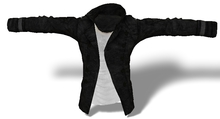 Mens Mesh Buttoned Jacket Black/White