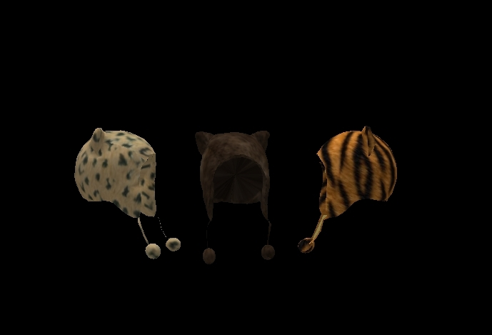 3 Winter Hats Cute With little Ears Brown Pack