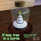 X'mas tree in a bottle for particle show with BGM