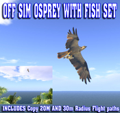 Off Sim Osprey With Fish Set