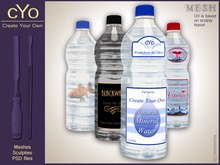 cYo Water Bottle, full perms mesh + Photoshop file