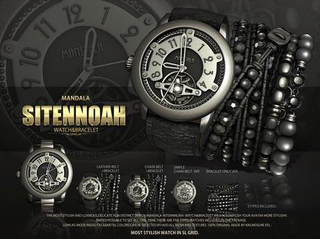 -UNISEX-[MANDALA]SITENNOAH_watch&bracelet_BLACK